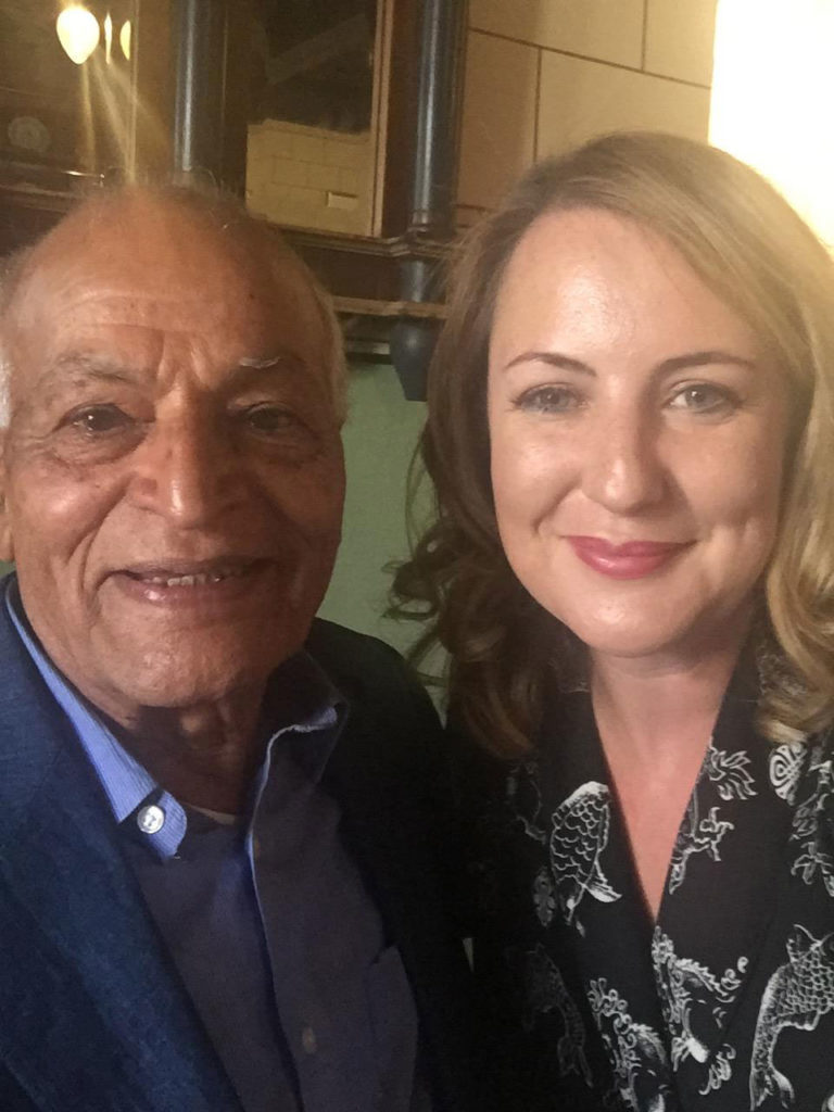 Satish Kumar and Sophie Howe
