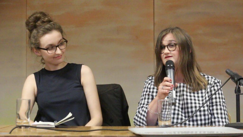 Contributors speaking on the panel