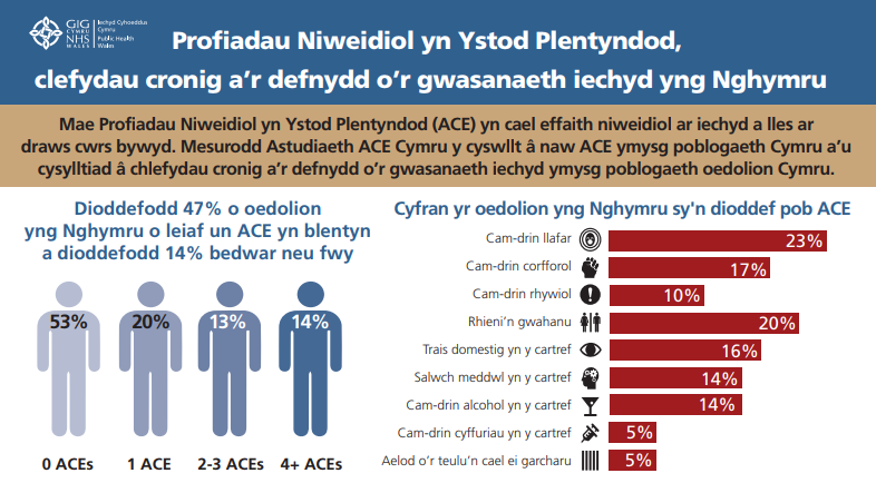 Diagram showing chronic diseas and health service use in Wales