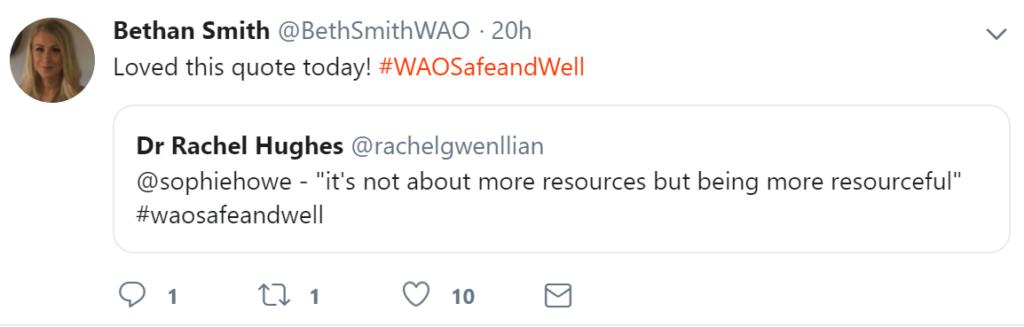 Beth Smith and Rachel Powell Tweet screen grab