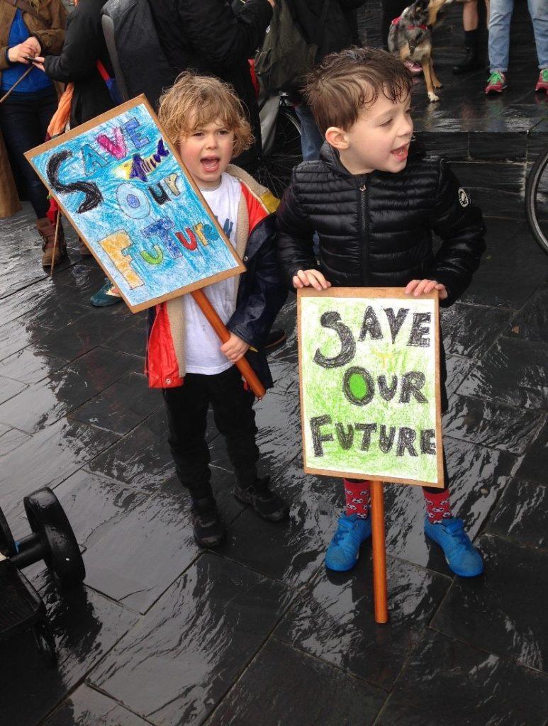 Children striking
