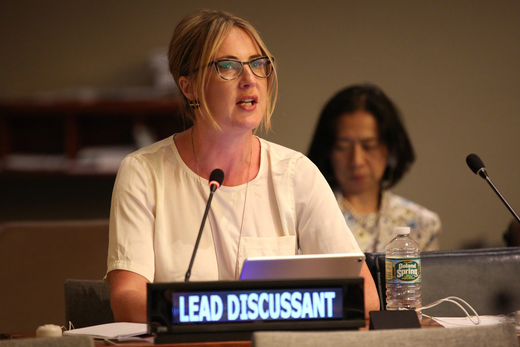 Sophie Howe at The United Nations High Level Political Forum