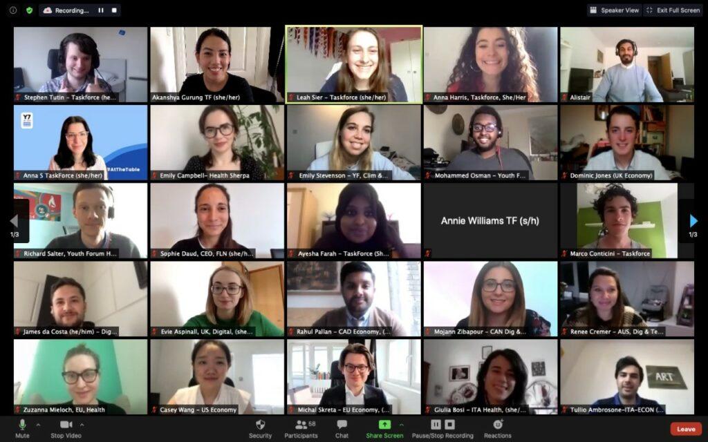 Screenshot of an online Y7 meeting